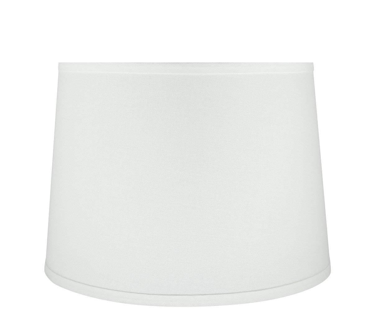"Aspen Creative 32317 14"" Wide (12"" x 14"" x 10"") Transitional Hardback Empire Shaped Spider Construction Lamp Shade, White"