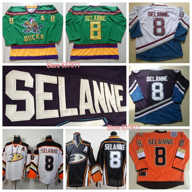 c7d6bbeab ... stitched nhl anaheim 2ee24 77c61  switzerland new throwback anaheim  ducks teemu selanne hockey jerseys mighty ducks d 5 moive vintage green
