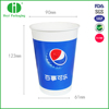 disposable thick double PE cold and hot take away paper cups with lids