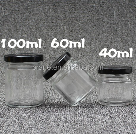 Wide mouth 2 oz fancy glass jars india with low price