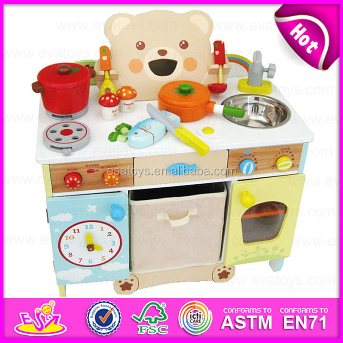 New Style School Kids Wooden Pretend Play Kitchen Set Hot Sell Kids
