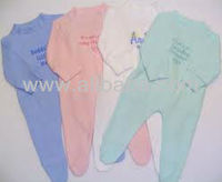 COTTON BABY GROWS WITH CUSTOM DESIGN