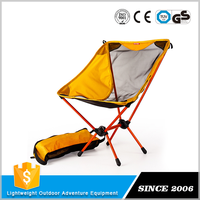 Free sample available Ergonomic folding camp chair with side table
