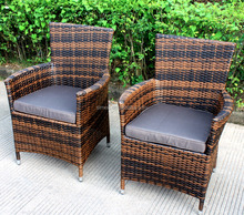 China supplier wholesale aluminum and wicker outdoor ratan chairs