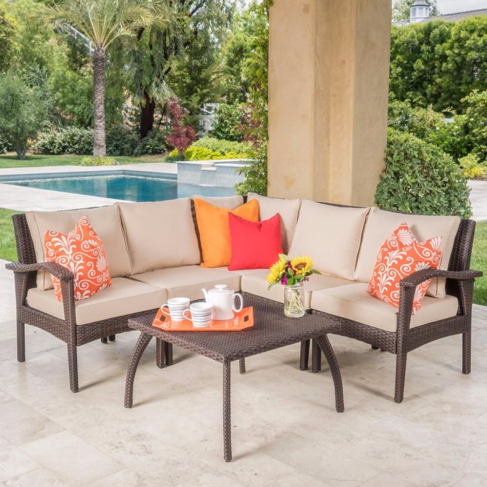 Venta al por mayor sofas rattan para exterior barato-Compre online ...