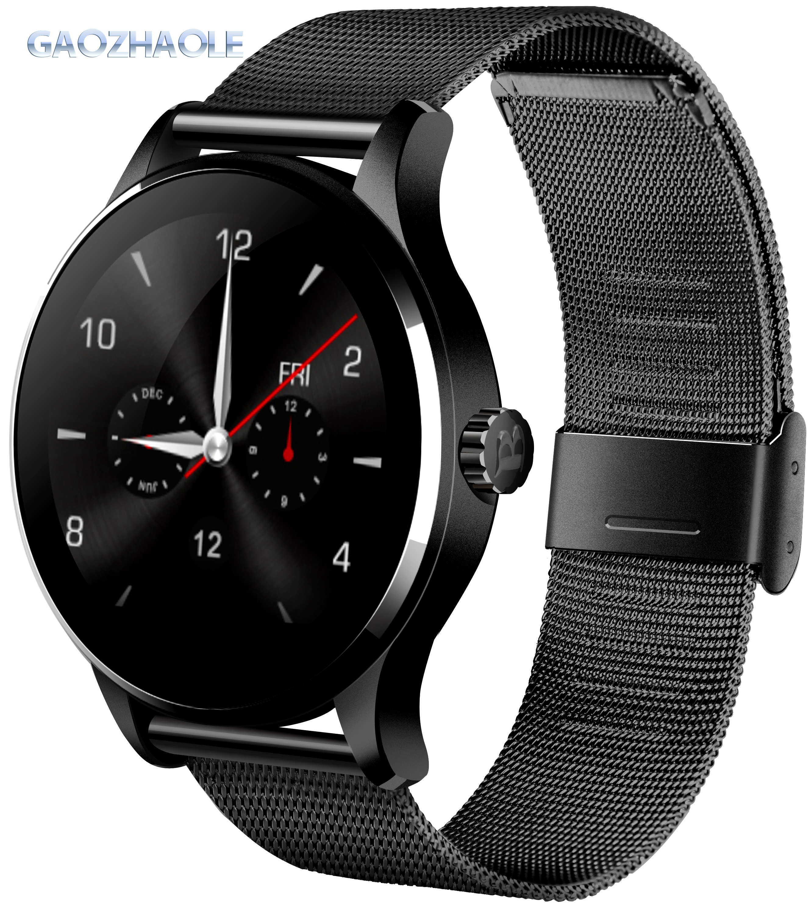 2019 hot sell round screen smart watch K88h for iphone and Android ip65 waterproof heart rate monitor k88h sport watch