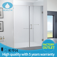 Simple Frameless Hinge 8/10 Tempered Glass Screen Shower Door with CE JL712