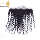 Ideal unprocessed human hair 13*4 virgin lace frontal tight Curly peruvian hair