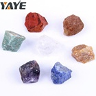Wholesale Natural Semi Precious Stone Rough Material Chakra Set For Reiki Healing
