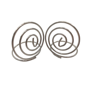 carbon steel zinc plated coil snail shaped wire formed spring standing type card clip photo clip for crafts