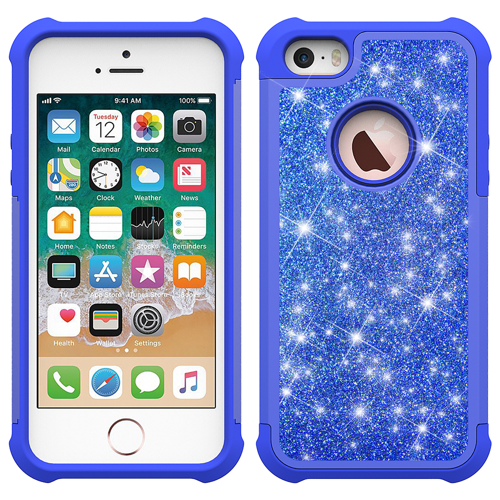 Luxury Design Hybrid Glittering Phone Case For Iphone Se2