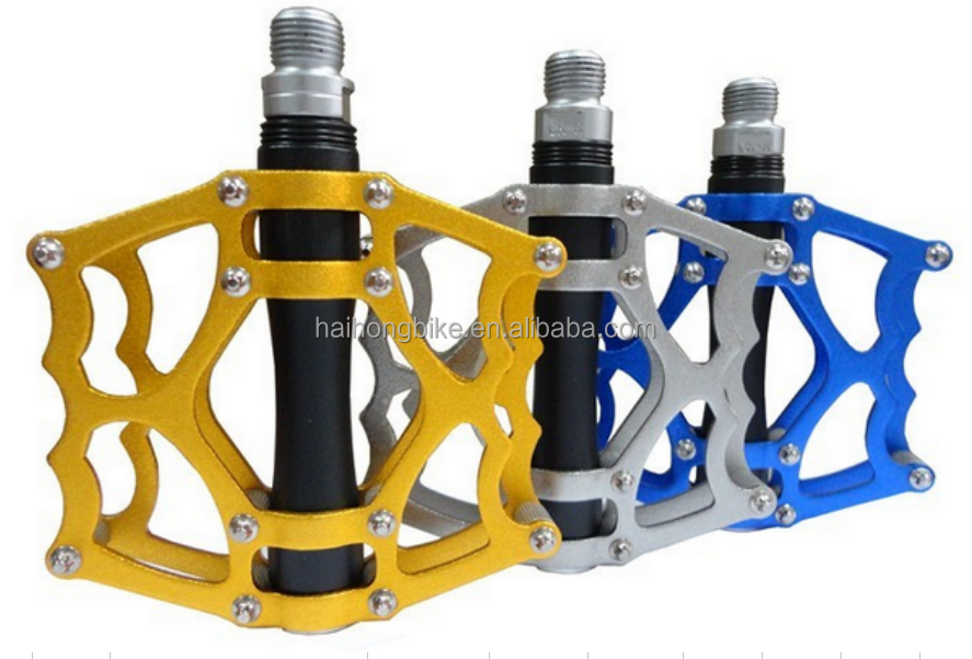 light weight aluminum ally oil slick folding bike pedal