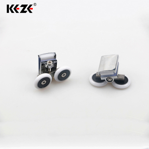 Steel Adjustable Small Mini Roller Pulley Wheel For Glass Bathroom