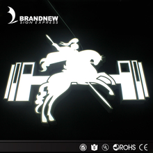 Outdoor New Style Acrylic Facelit Horse Design Stainless Steel Metal Frame Led Light Box