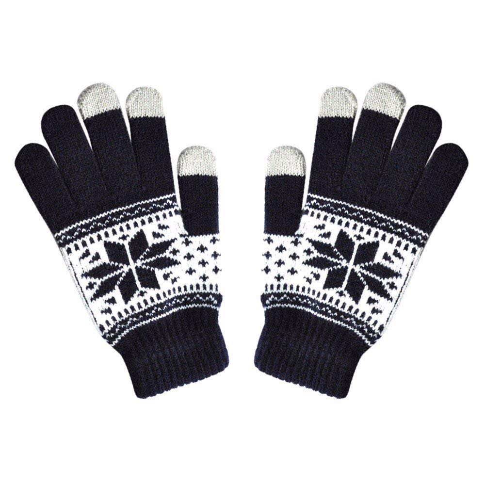 e7bb2afe472 Get Quotations · GOVOW Touch Screen Gloves for Men winter Women Winte  Texting Cap Active Smart Phone Knit Soft
