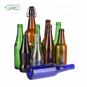 Custom made glass amber/clear/green/blue/ empty beer bottle manufacturer