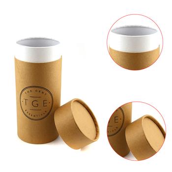 luxury custom printed paperboard perfume canisters kraft paper