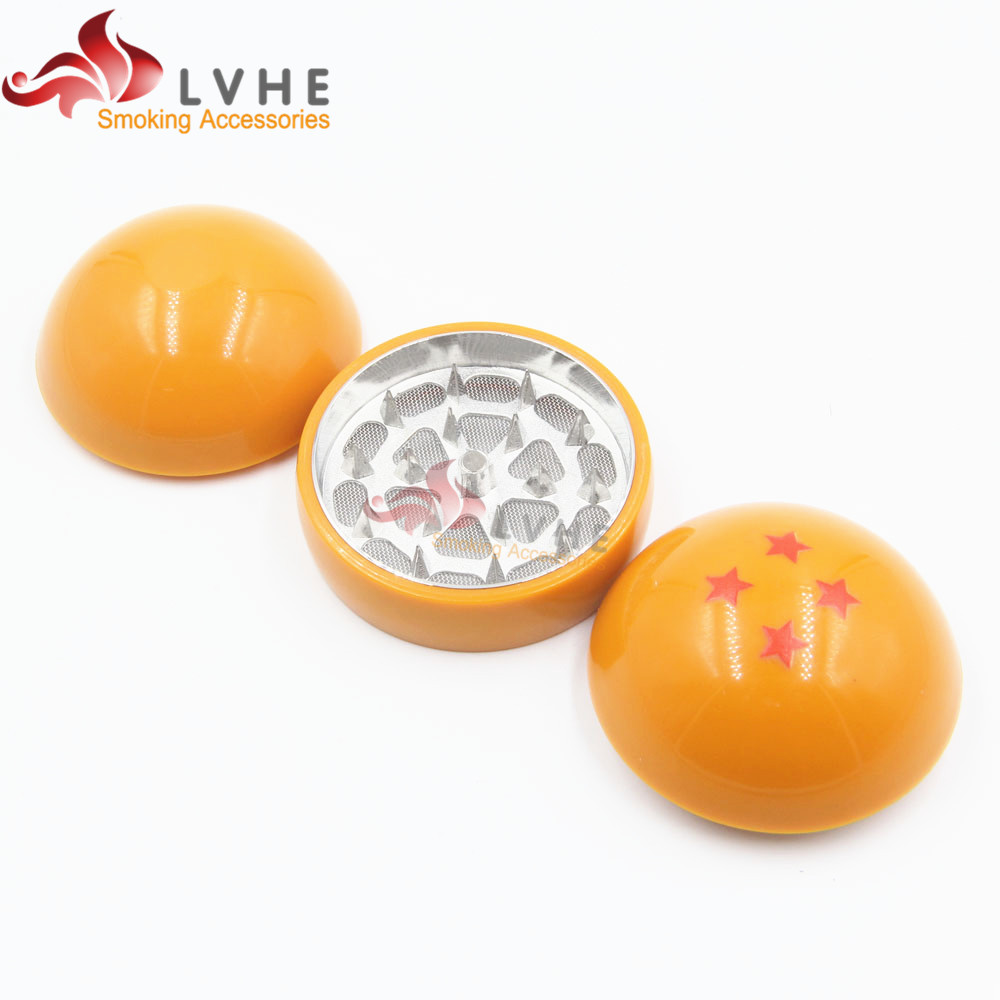 162GM LVHE Novelty Universal New Four Stars 3 Layers Dragon Ball Wholesale Herb Grinder