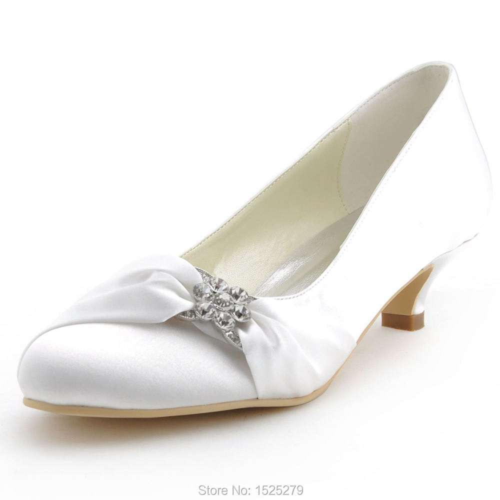 Popular Low Heel Ivory Bridal Shoes-Buy Cheap Low Heel