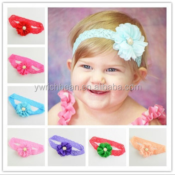 Hair Accessories Baby Girls Lace Headband 2015 Flower Baby Head band Infant  Hair Weave Band Baby c42ddaf82da