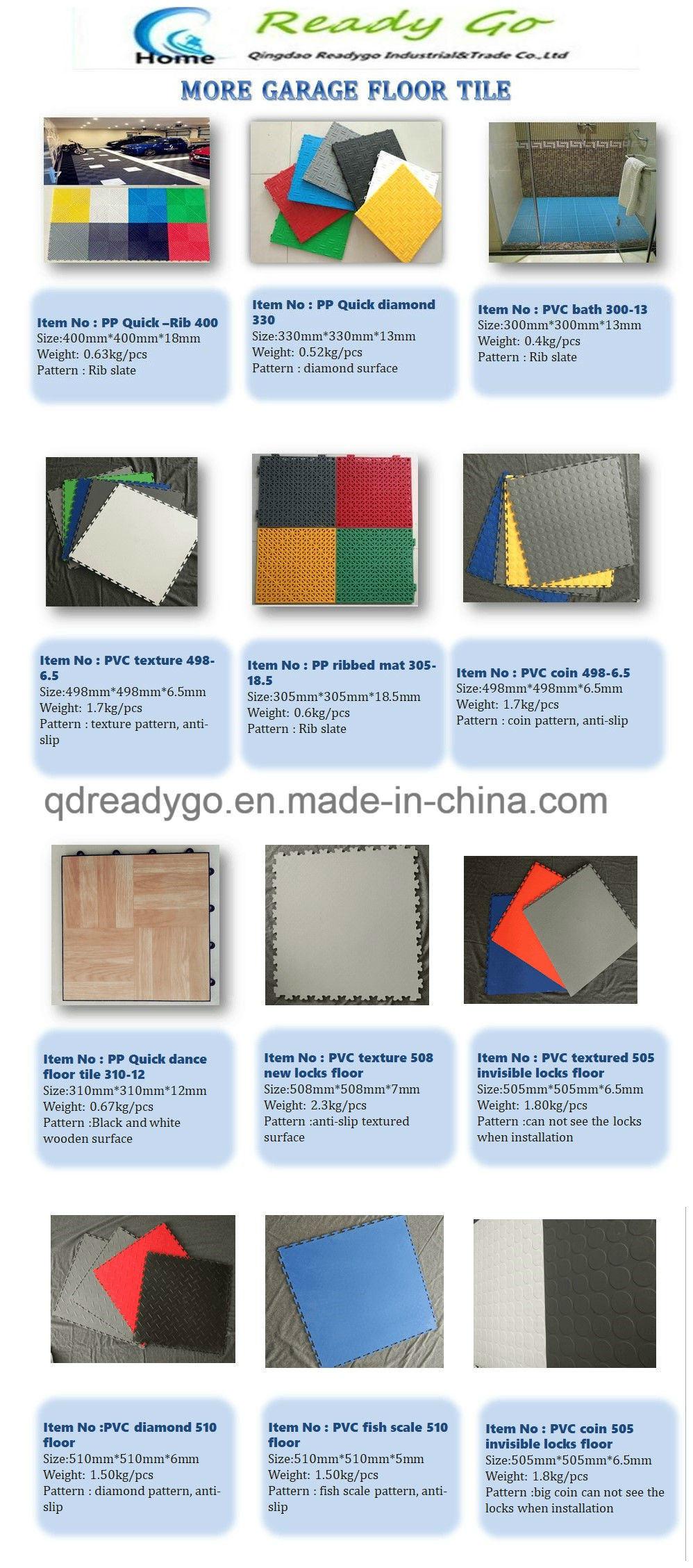 PP/PVC Outdoor vinyl vloeren Grijpende Plastic outdoor Sport Vloeren