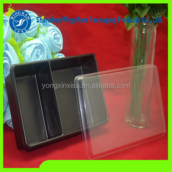 Take away ready plastic meal tray for fast food