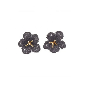 Summer hot selliy 18K gold platy fashionable delicate flower metal own design earring ear stud