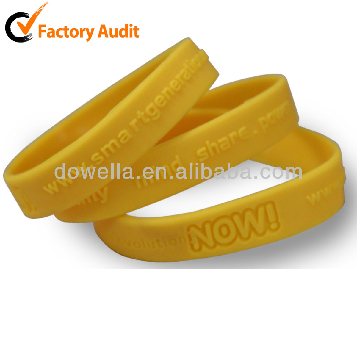 Supplying Promotion OEM With Different Logo Silicone Cuff