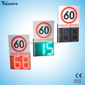 Remote control outdoor solar radar speed limit sign