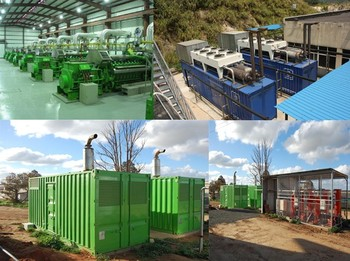 Landfill Gas Power Plant Gas Turbine Generators Gas Engine