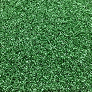 Environmental friendly long life time synthetic grass tile for gate ball court artificial grass flooring
