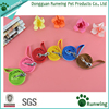 Best Selling Dot Printed Nylon Pet Dog Necklace Pet Dog Collar and Leash Lead Set with Bell