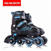Most popular fashion patines en linea inline skate LED Skating shoes for boys girls adults