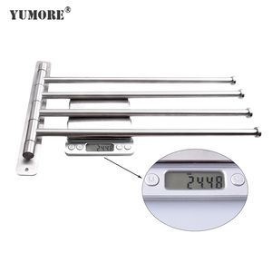hardware foldable stainless steel wall mount screw towel rack with towel bar in chrome finish