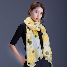 wholesale woman fashionable hand painted long printing 100 % silk scarf
