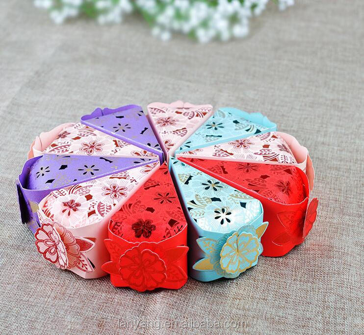 Cake wrapper box Personality butterfly cake wind candy box Wedding decoration favor love heart laser cut