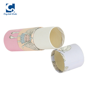 Popular selling low cost paper make cylinder box essential oil cylinder boxes