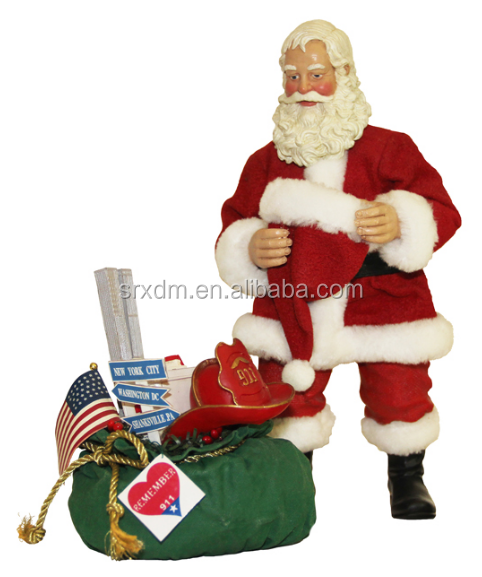 10'' Santa Figurine for custom, custom make 3D Santa Figurine maker, vinyl Santa Figurine