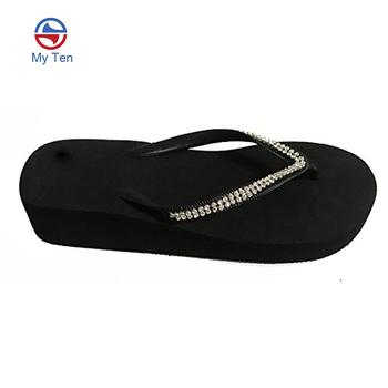 de6fb634496 New Arrival 2018 Summer Design EVA Platform Wedge Flip Flops Women  Rhinestones Flip Flop Sandals