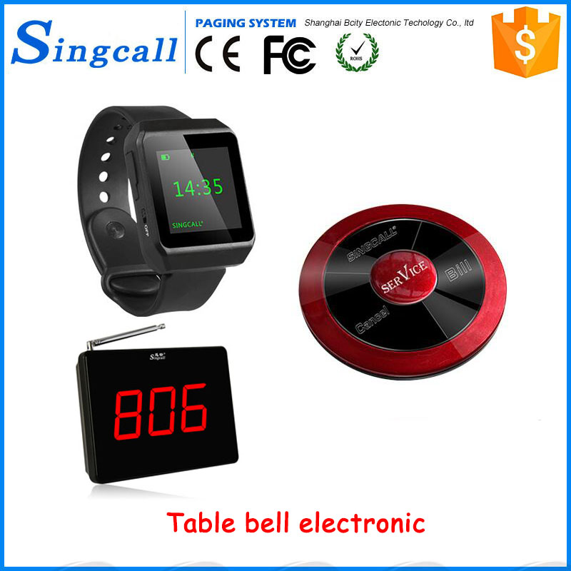 Restauramt and bar screen display calling system table bell electronic