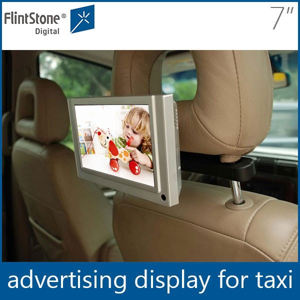 Flintstone 7 inch advertising bus screen, taxi lcd ad player, car lcd screen video display