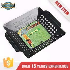 Non Stick Bbq Grill Wok,Non Stick Bbq Grill Topper/ Vegetable Basket