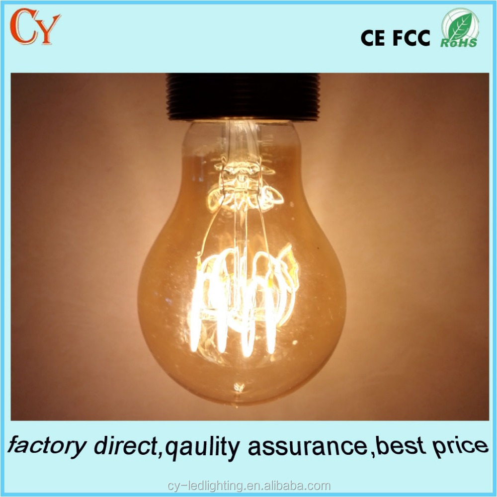New Led Spiral Filaments Led Bulbs Dimmable A60 E27