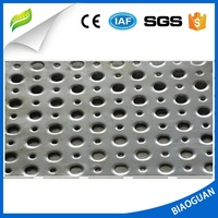 Galvanized plate perforation network
