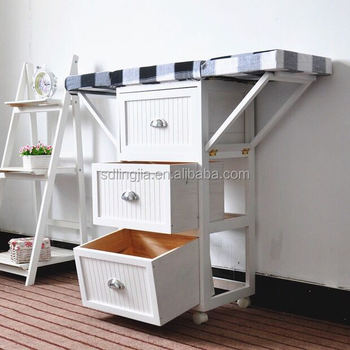 Whole Ironing Board Folding Wood Tables With Storage