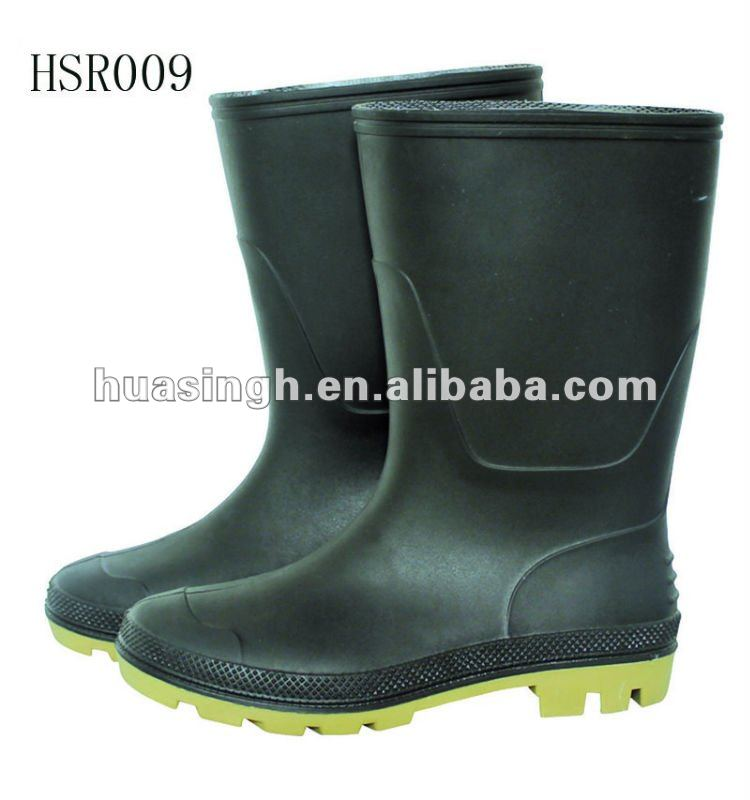 high quality newest style PVC rain boots with steel toe