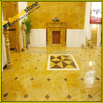 Wall & Floor Decorative Golden Tile Synthetic Marble Tile - Buy ...