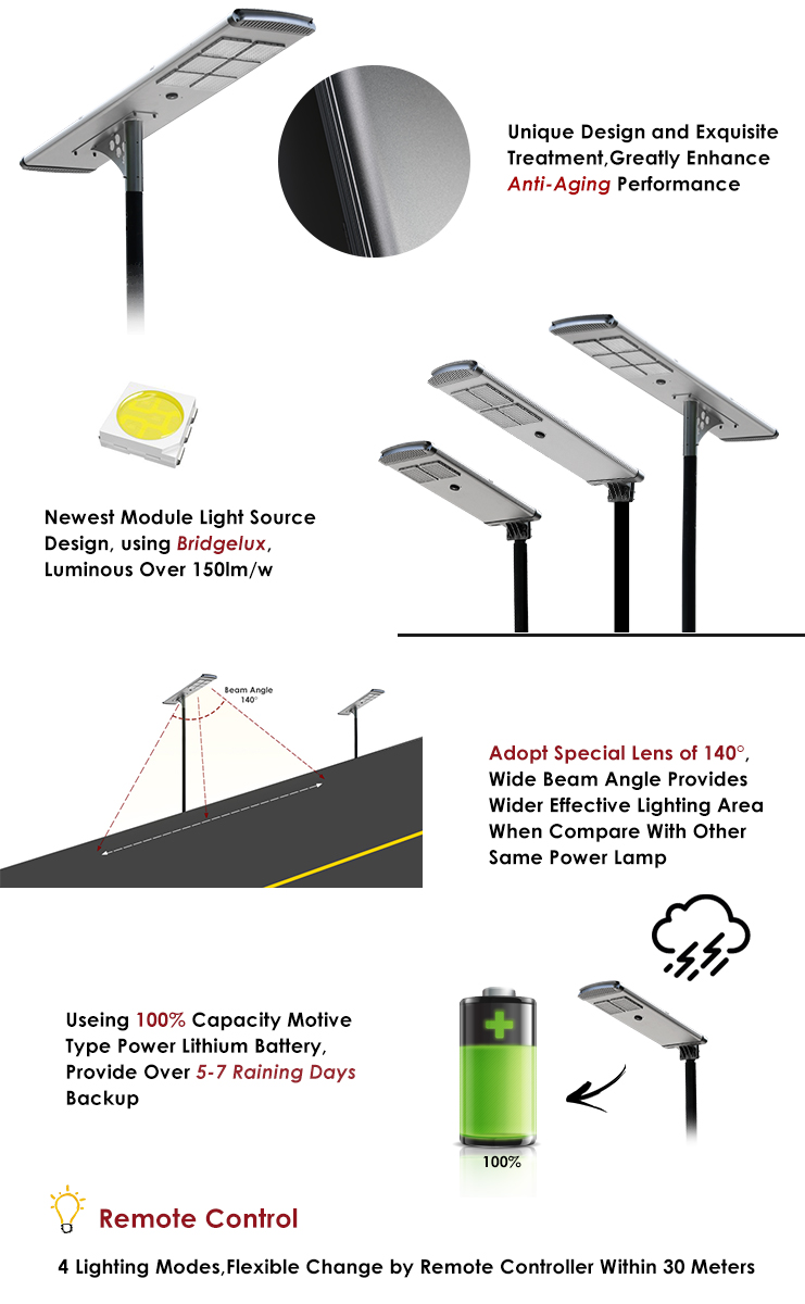 Highway waterproof saving energy solar power street light