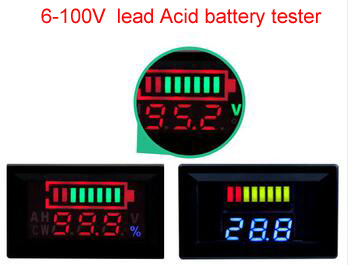 6V 12V 24V 36V 48V 60V 72V 84V 96V Digital lead Acid battery capacity tester indicator