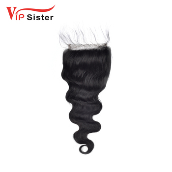 2018 Large stock best quality factory directly brazilian 100% vip sister human hair swiss lace closures